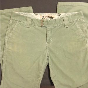 Light green corduroy boot cut pants from …